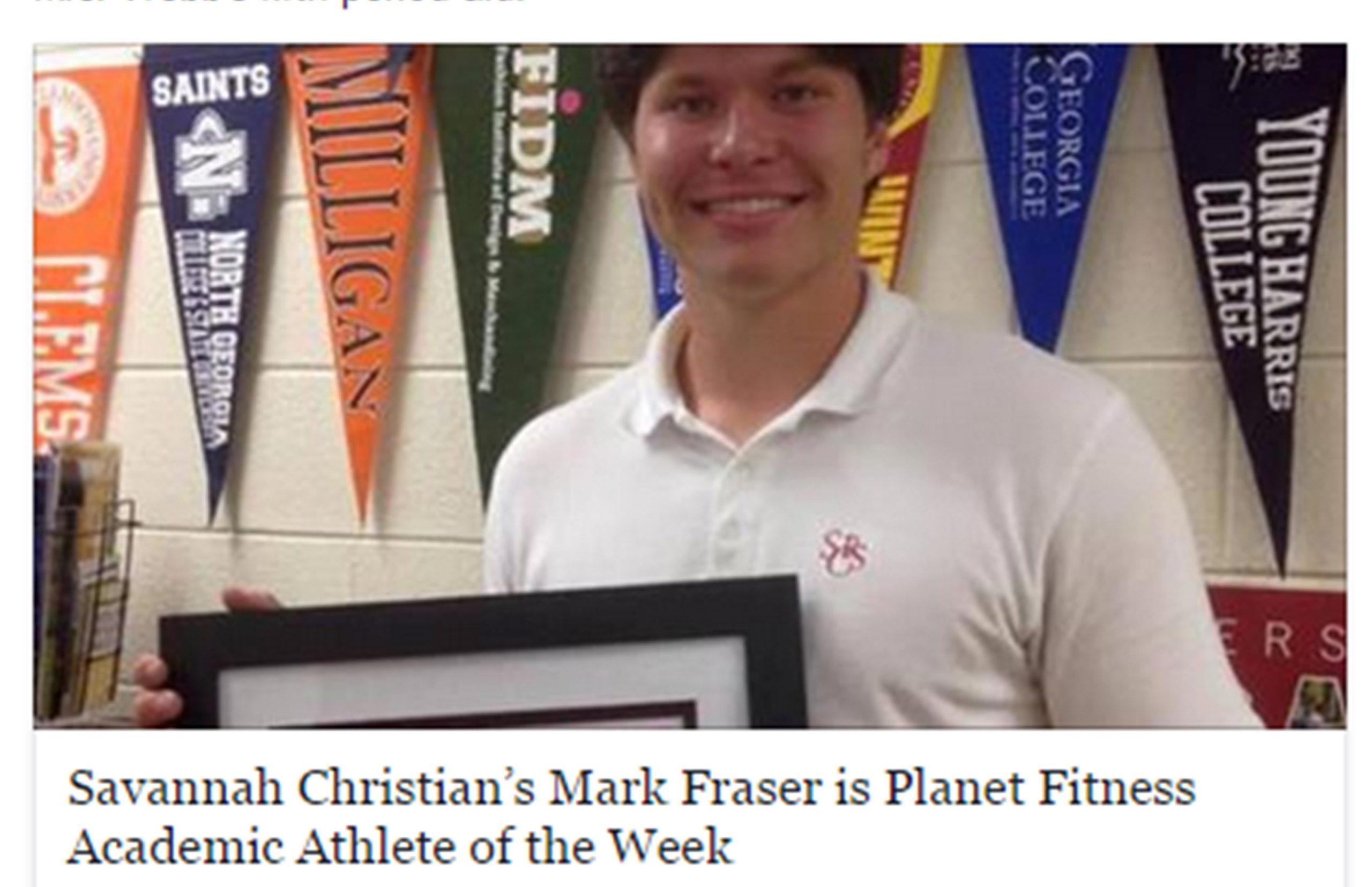 Cornell Bound Mark Fraser Earns Academic Athlete Of The Week