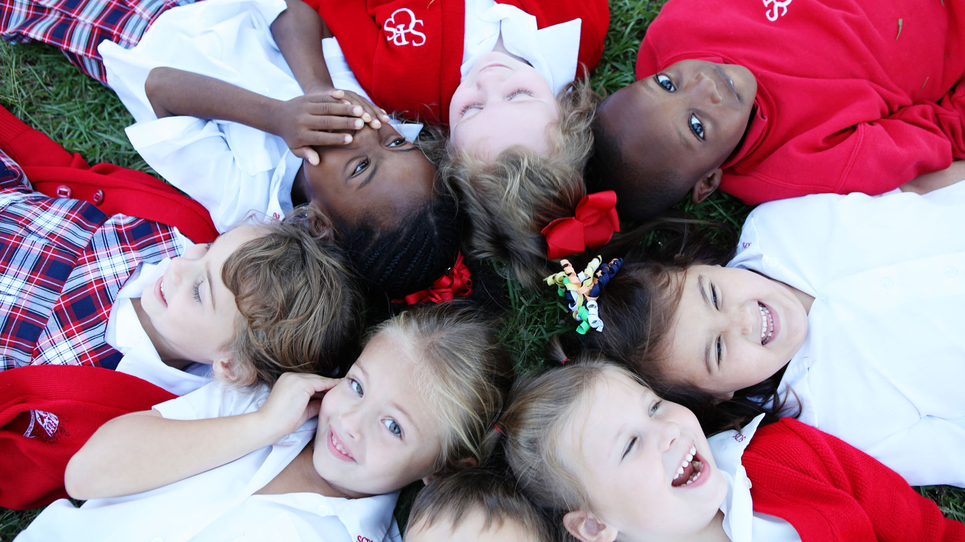 Savannah Christian Preparatory School - Lower School Students Laying in a Circle