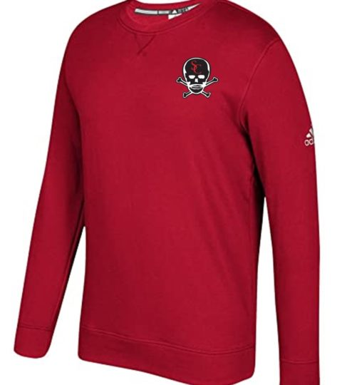 Adidas Crew Neck Fleece Sweatshirt – Red
